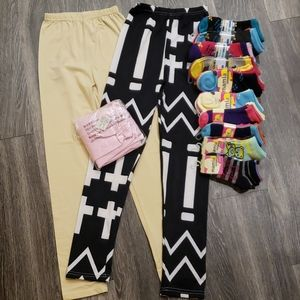 Lil Girls Leggings(FREE SOCKS)